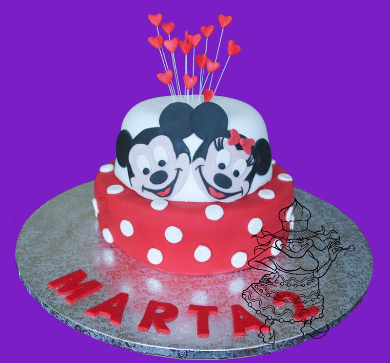 Tarta Mickey y Minnie