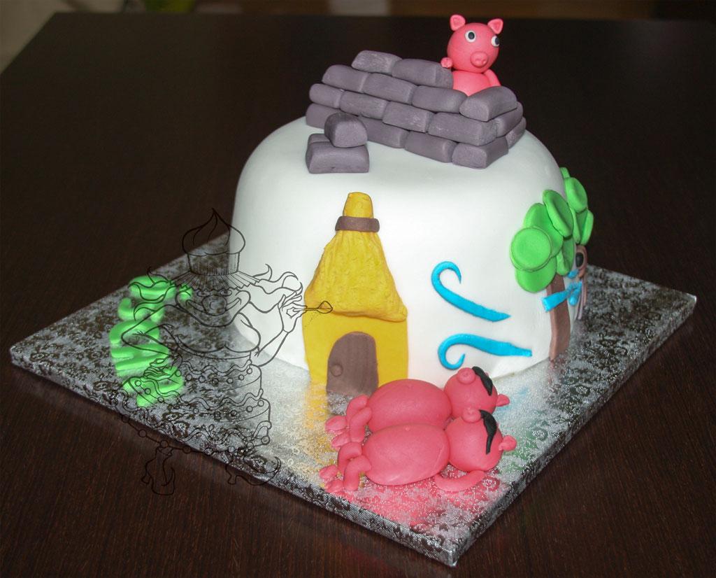 tarta los tres cerditos